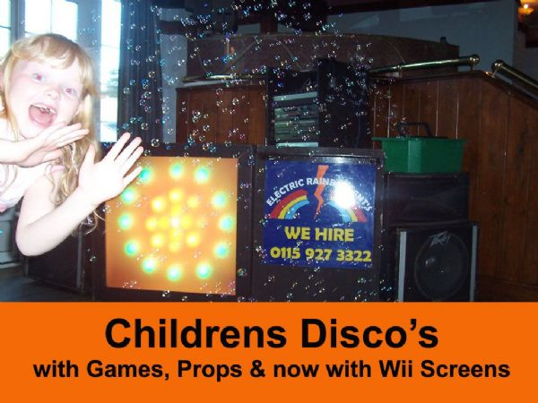 Disco;-  2 hour Childrens Disco Hire with DJ. inc Prizes